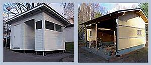 варианты хозяйственных построек на свайном фундаменте
